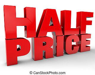 Half Price over white background