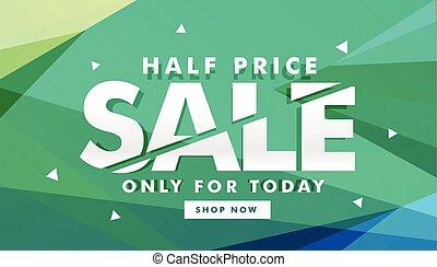 half price sale discount banner for marketing