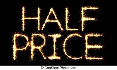 Half Prices Text Sparkler Glitter Sparks Firework Loop...