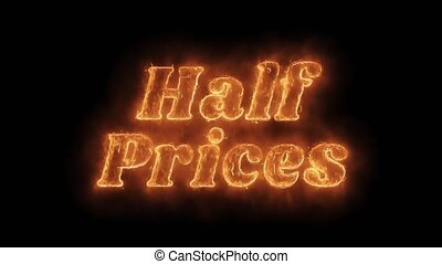Half Prices Word Hot Animated Burning Realistic Fire Flame...