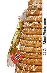 Half Ring Cake & Cracker - Traditional Norwegian marzipan...