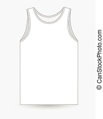 Half-Sleeved Vest Design Vector Illustration