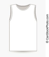 Half-Sleeved Vest Vector Illustration