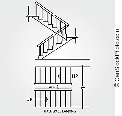 half space landing staircase