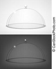 half-sphere, vetro, trasparente