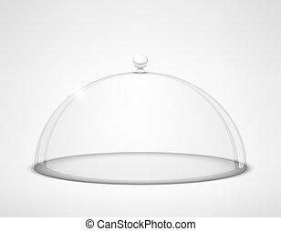 half-sphere, vidrio, transparente