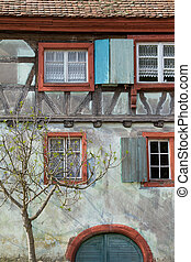 Half timbered house details