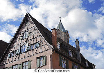 Half-timbered house - Half tmbered house in Dinkelsb?hl...