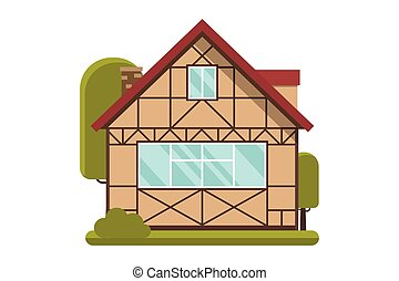 Half-timbered Wooden Cottage