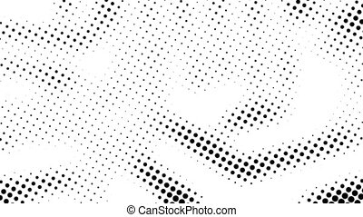 Half tone of many dots, computer generated abstract...