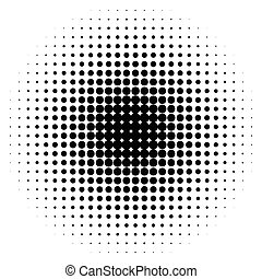 half-tone, pontos, monocromático, círculos, halftone, pattern.