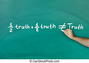 Half truth and half truth does not equal truth on green...