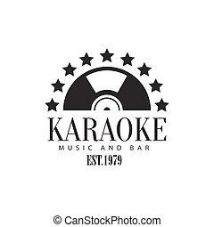 Half Vinyl Recors Framed With Stars Karaoke Premium Quality...