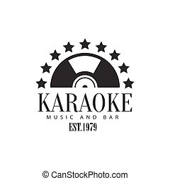 Half Vinyl Recors Framed With Stars Karaoke Premium Quality...