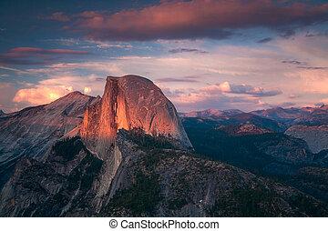 Halfdome Sunset Yosemite California