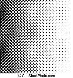 halftone, čtverec, tečka, vektor, texture., halftone, model,...