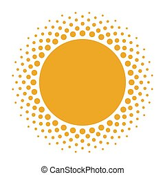 halftone, 背景, 太陽, 白, 形
