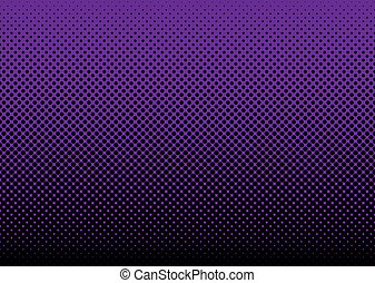 Abstract grunge halftone dot background with purple and black dots