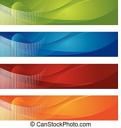 Halftone and gradient banners. This is a vector illustration