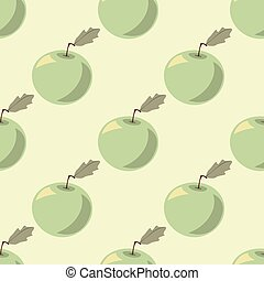 Halftone apples in pastel shades,  seamless pattern,