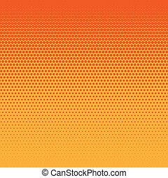 a two tone orange halftone circle background