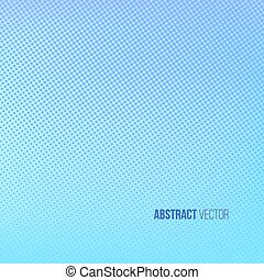 Halftone background. Blue and turquoise abstract spotted pattern. Vector illustration for business presentation