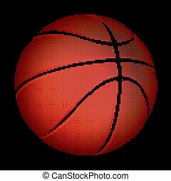 Halftone Basketball ball, vector