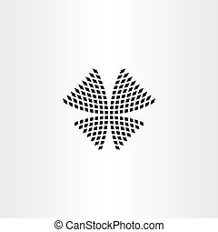 halftone butterfly vector icon symbol