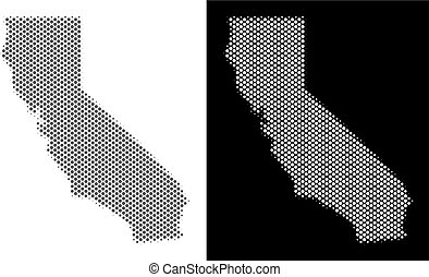 Halftone California Map
