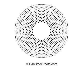Halftone circle illustration isolated on white background