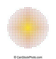 Halftone circle isolated on white, stock vector illustration