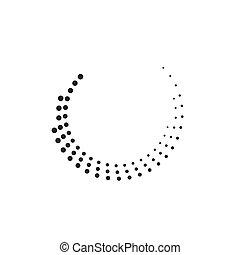 Halftone circles, halftone dot pattern