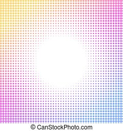 Halftone colorful pattern