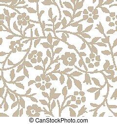 Halftone colorful seamless retro pattern vintage garden spiral curve flower leaf