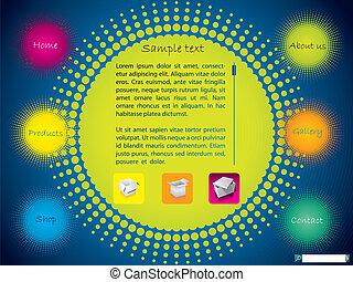 Halftone design website template