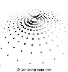 Halftone dots abstract background.
