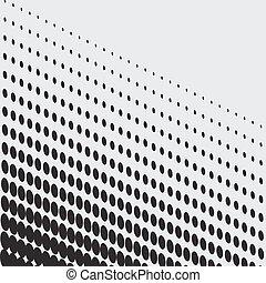 Halftone dots on white background. Vector illustration