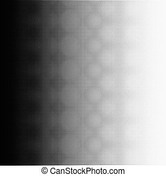 Halftone dots on white background