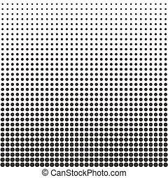 Halftone dots pattern. Black dots on white background