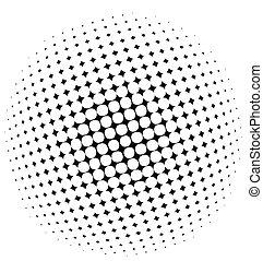 Halftone dots - vector