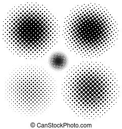 Halftone elements. EPS 8 vector file included