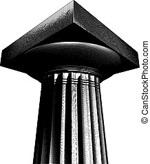 halftone etch effect Greek column - halftone etch effect...