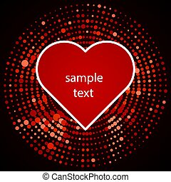 halftone heart icon in red design