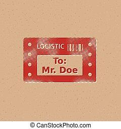 Halftone Icon - Logistic receipt - Logistic receipt icon in...