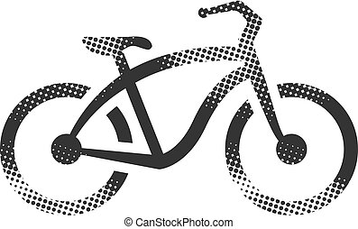 Halftone Icon - Low rider bicycle - Low rider bicycle icon ...
