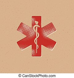 Halftone Icon - Medical symbol