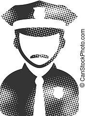 Halftone Icon - Police avatar