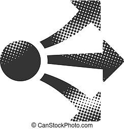 Halftone Icon - Propagate arrows