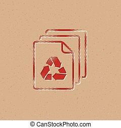 Halftone Icon - Recycle symbol paper