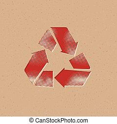 Halftone Icon - Recycle symbol
